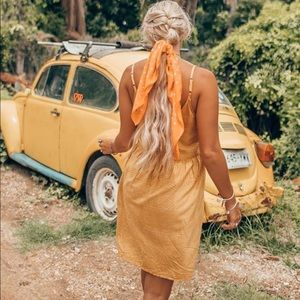 Yellow RVCA dress.